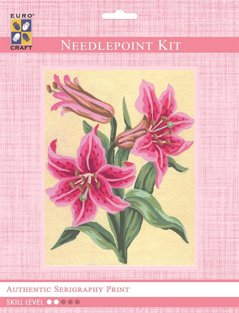 Pink Lillies -  Tapestry Kit