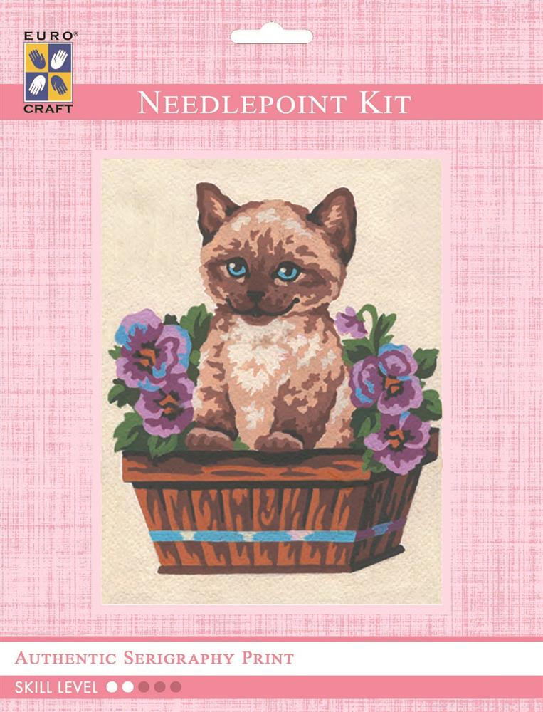 Kitten and Butterfly -  Tapestry Kit