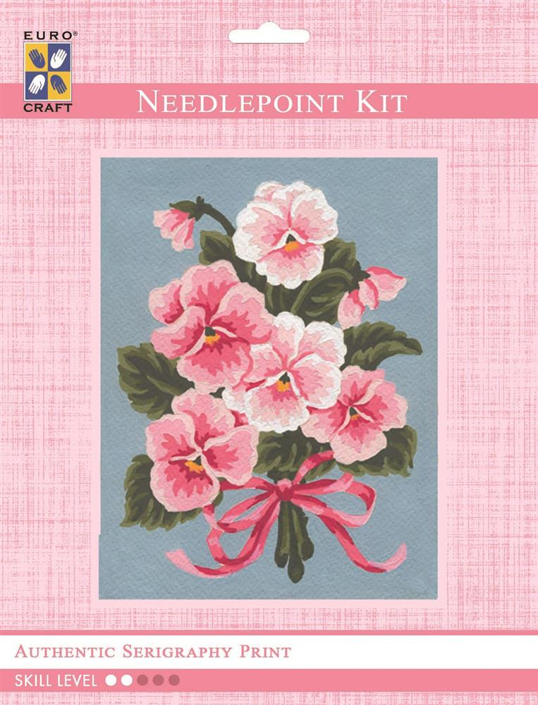 Pink Floral Bouquet -  Tapestry Kit
