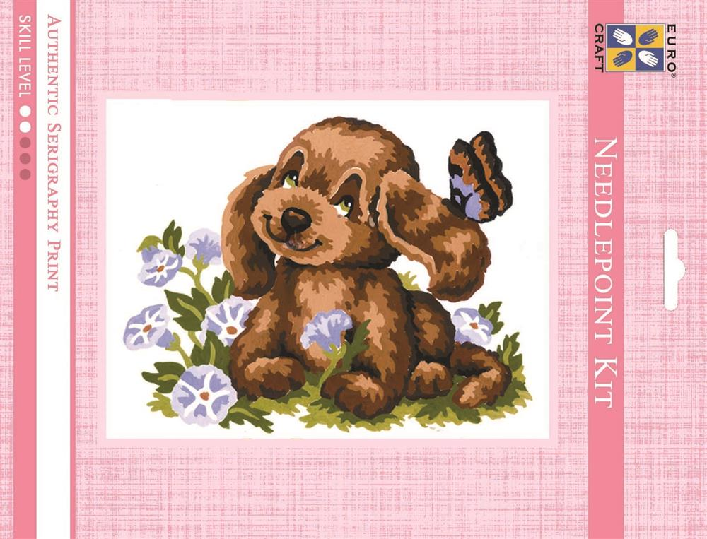 Puppy and Butterfly -  Tapestry Kit