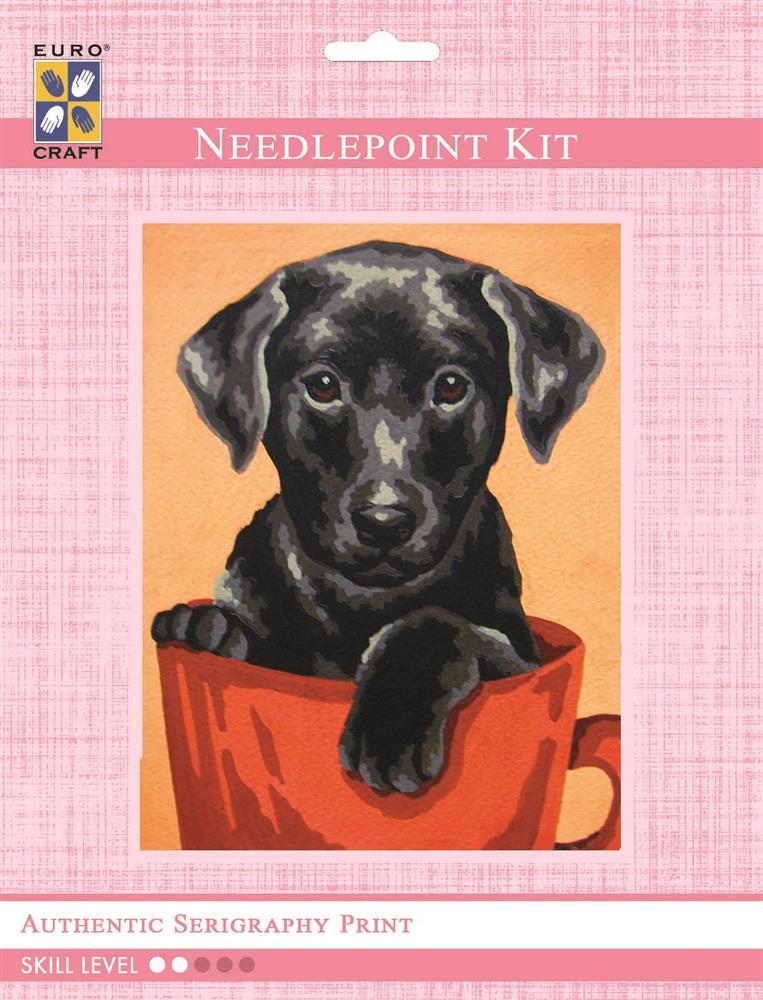 Black Puppy -  Tapestry Kit