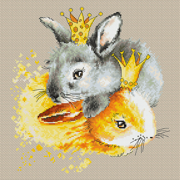 Bunnies -  Cross Stitch Kit