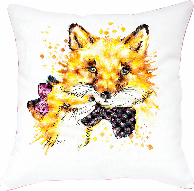 Luca-S Foxes Pillow Cross Stitch Kit