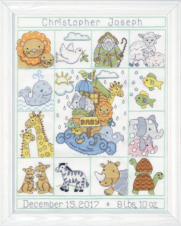 Noah's Animals Sampler -  Cross Stitch Kit