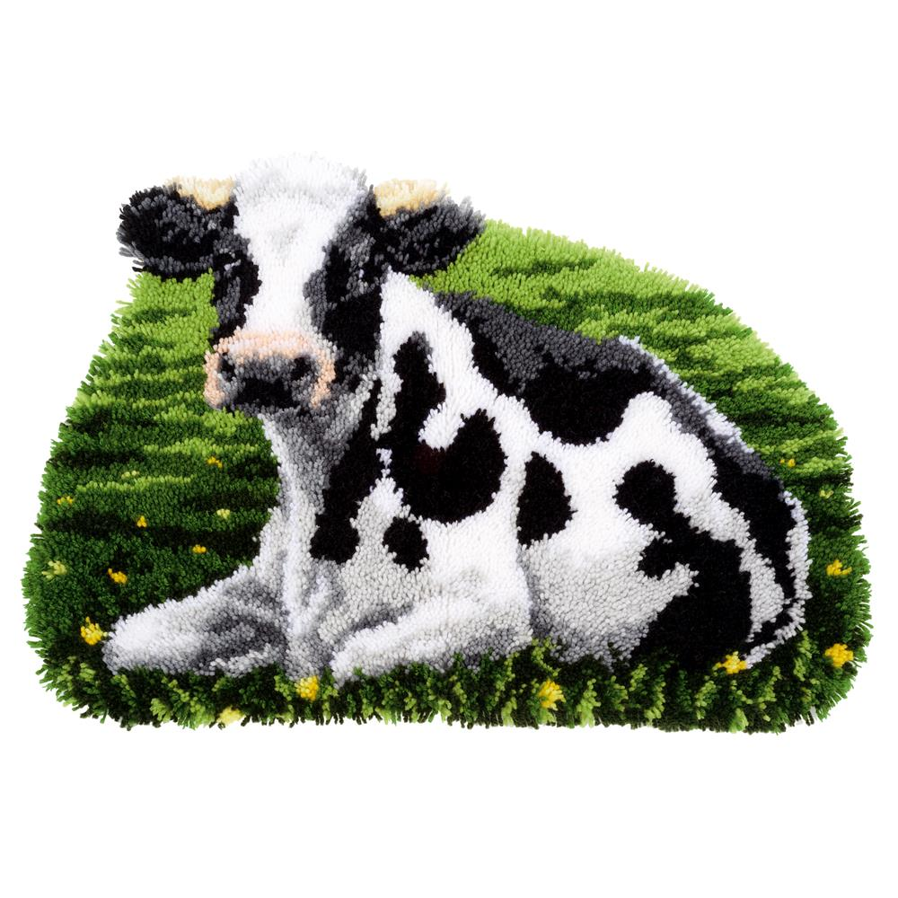 Vervaco Resting Cow Rug Latch Hook Rug Kit