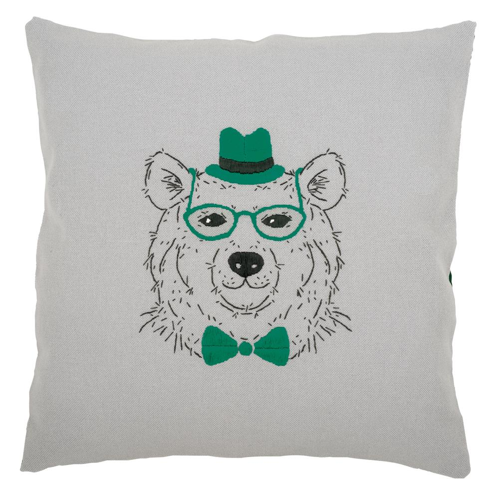 Vervaco Bear in Green Glasses Embroidery Kit