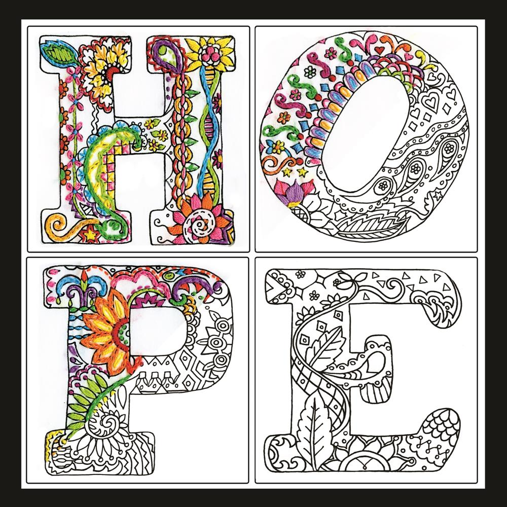 Design Works Crafts Zenbroidery - Hope Embroidery Fabric