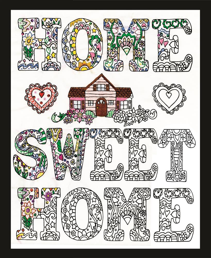 Zenbroidery - Home Sweet Home -  Embroidery Fabric