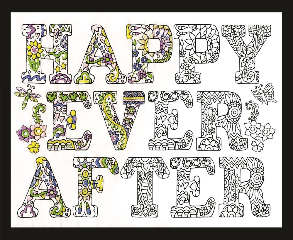 Design Works Crafts Zenbroidery - Happy Ever After Embroidery Fabric