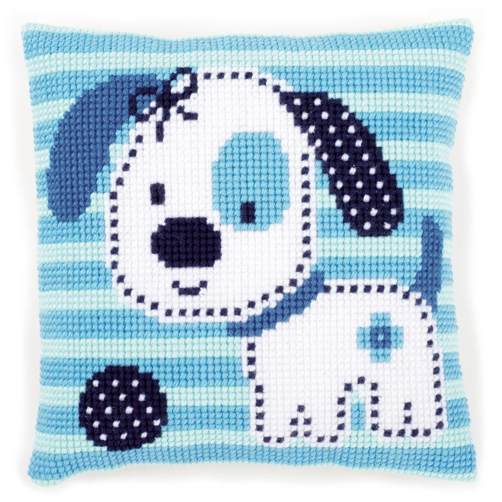 Vervaco Spotted Little Dog Cushion Cross Stitch Kit