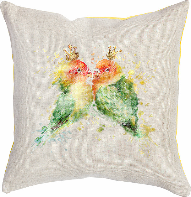 Luca-S Paraqueet Cushion Cross Stitch Kit