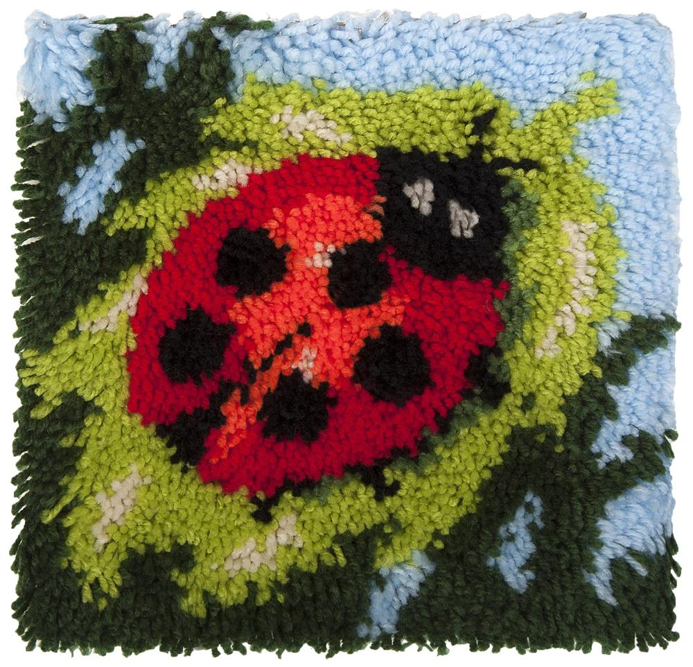 Needleart World Ladybird Latch Hook Rug Kit
