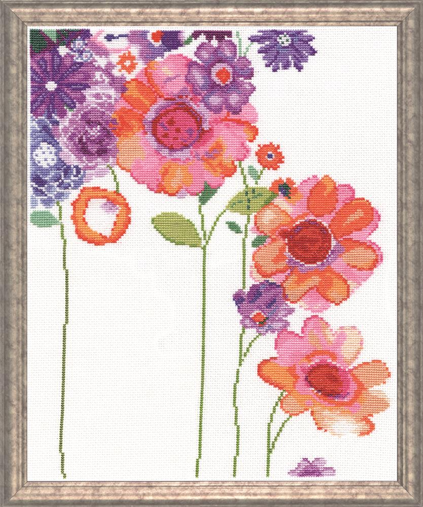 Design Works Crafts Watercolour Garden Cross Stitch Kit