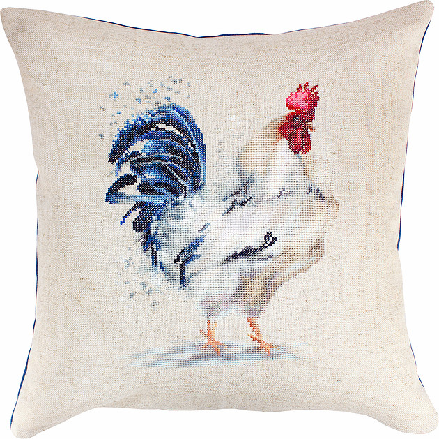 The Rooster Pillow -  Cross Stitch Kit
