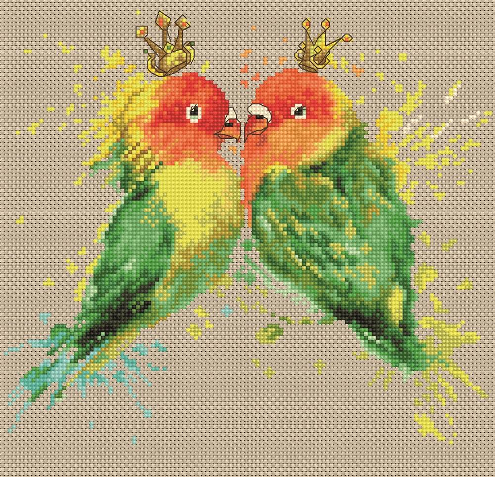 The Parrots -  Cross Stitch Kit