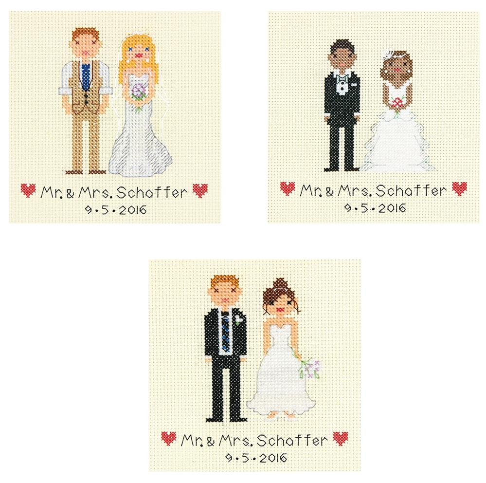 Dimensions Wedding Bride and Groom Wedding Sampler Cross Stitch Kit