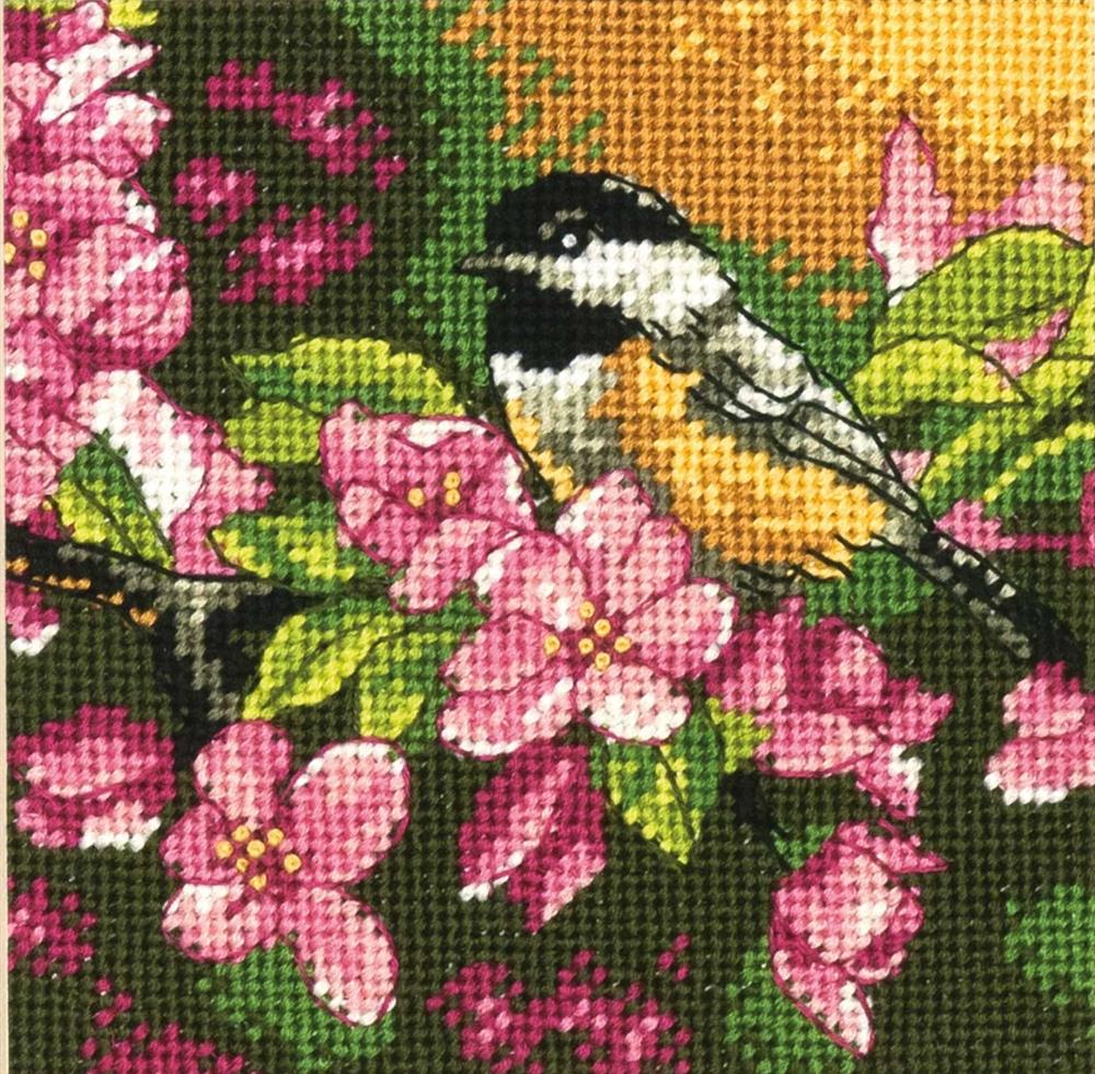 Chickadee in Pink -  Tapestry Kit