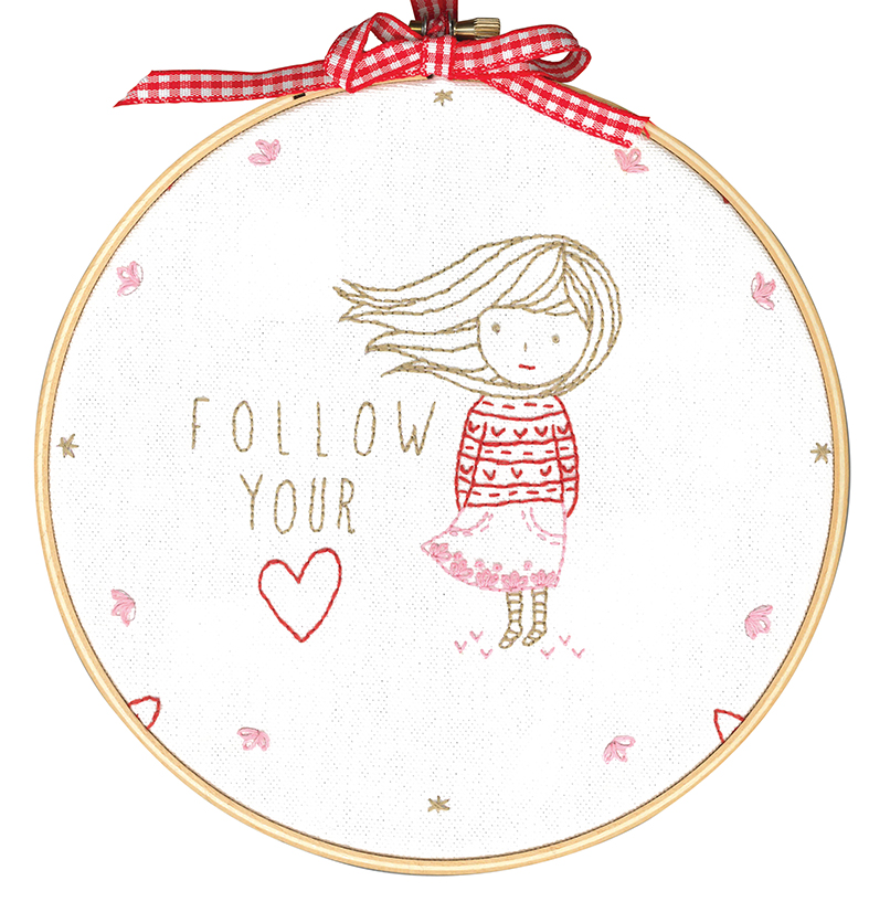 Follow Your Heart -  Embroidery Kit