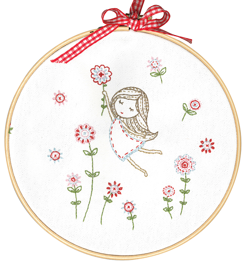 Girl in Red Dress -  Embroidery Kit