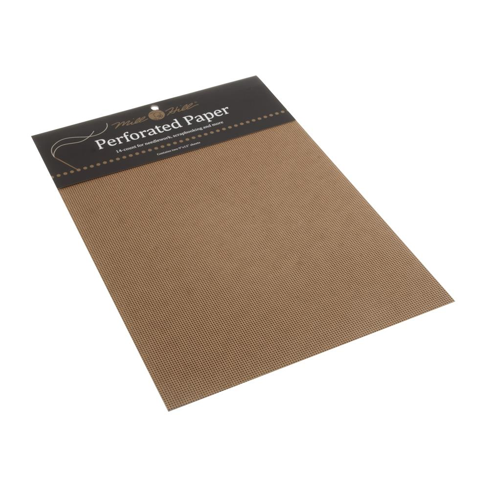 Mill Hill 14 count Perforated Paper - Brown Fabric