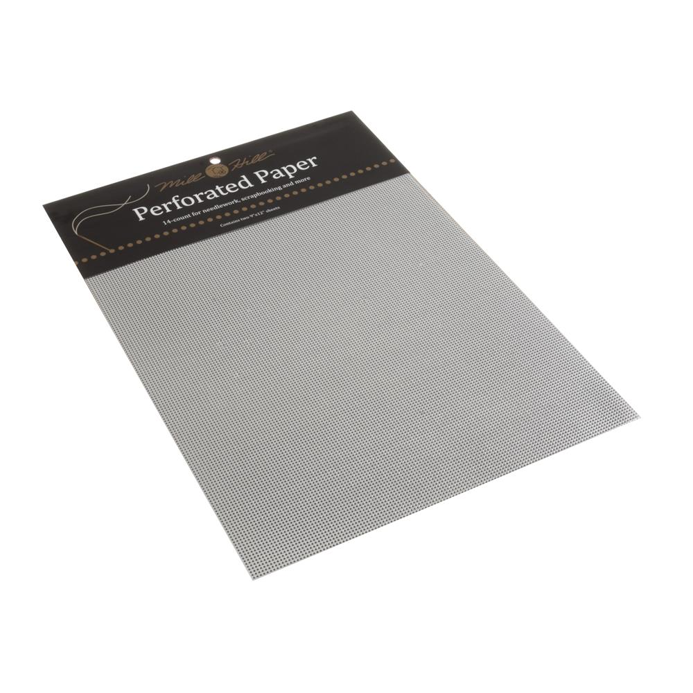 14 count Perforated Paper - Silver