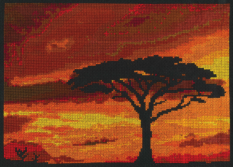 DMC Savannah Sunset Cross Stitch Kit