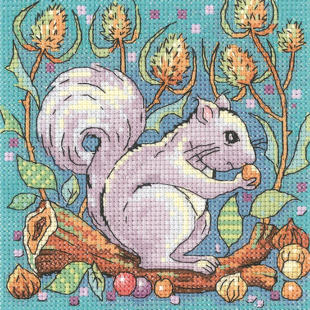 Heritage Grey Squirrel - Aida Cross Stitch Kit