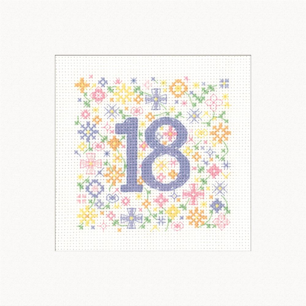 Heritage Occasions Card - 18 Cross Stitch Kit
