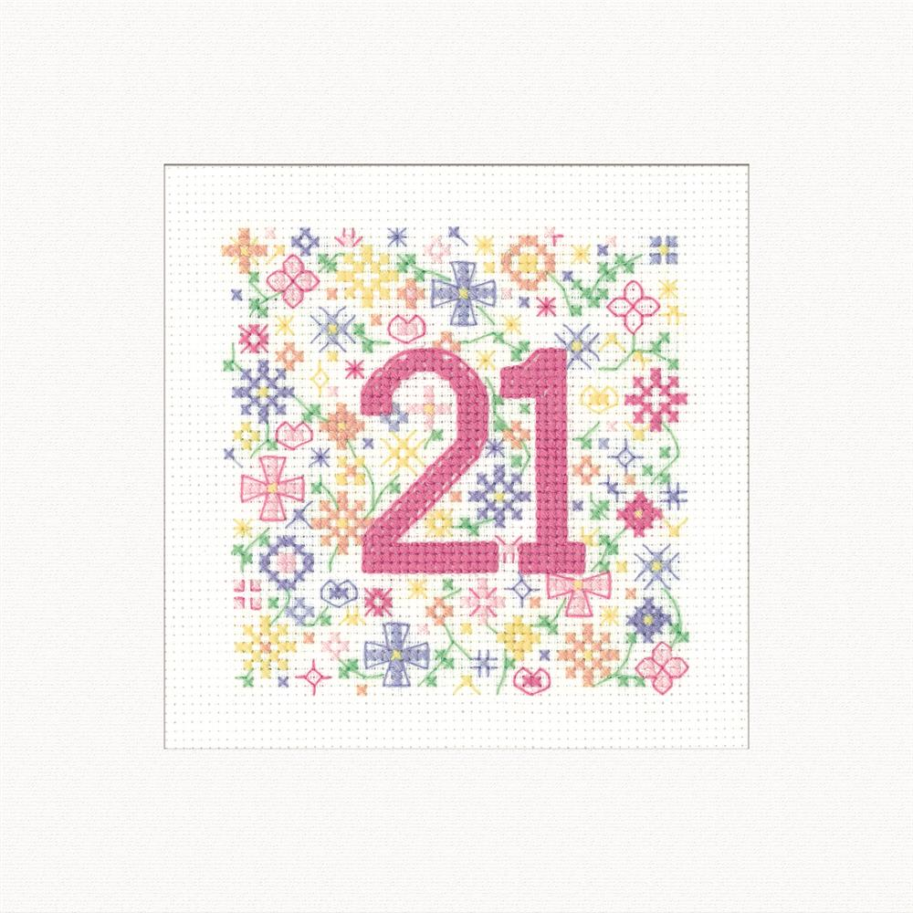 Heritage Occasions Card - 21 Cross Stitch Kit