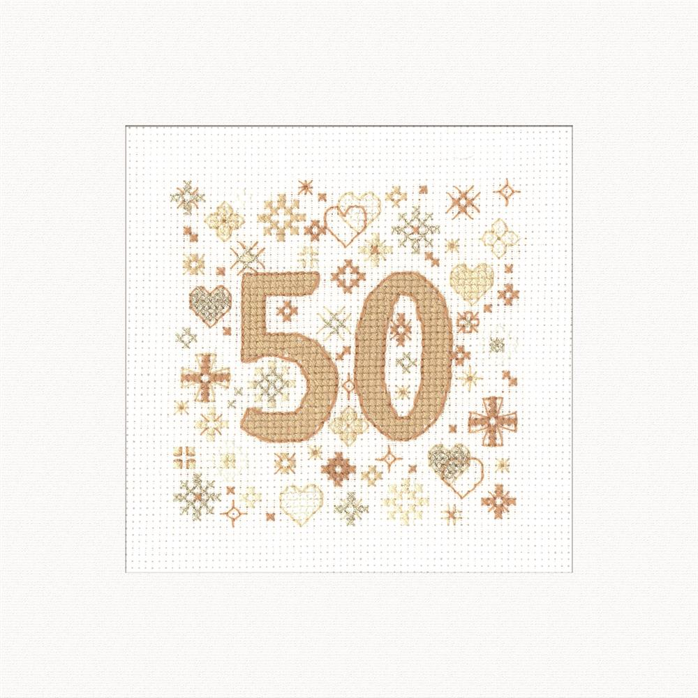 Heritage Occasions Card - 50 Wedding Sampler Cross Stitch Kit