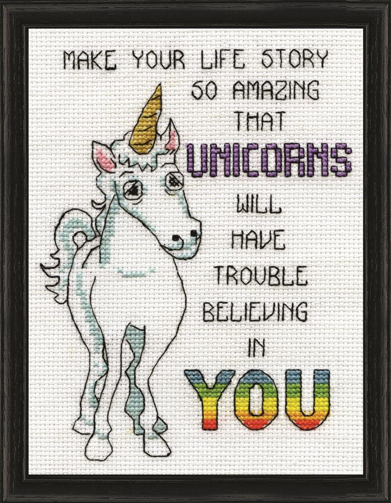 Unicorns -  Cross Stitch Kit