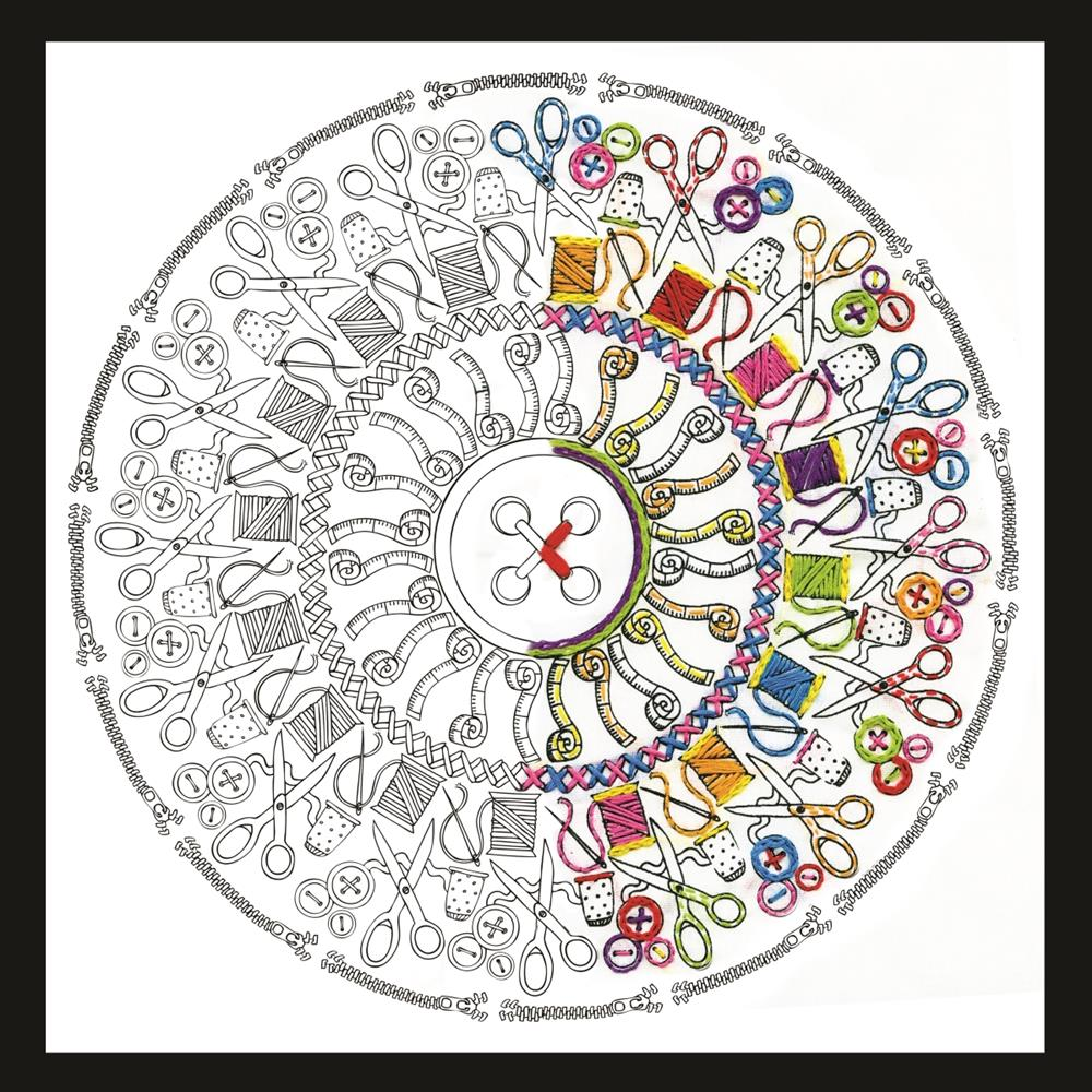 Design Works Crafts Zenbroidery - Sewing Mandala Embroidery Fabric