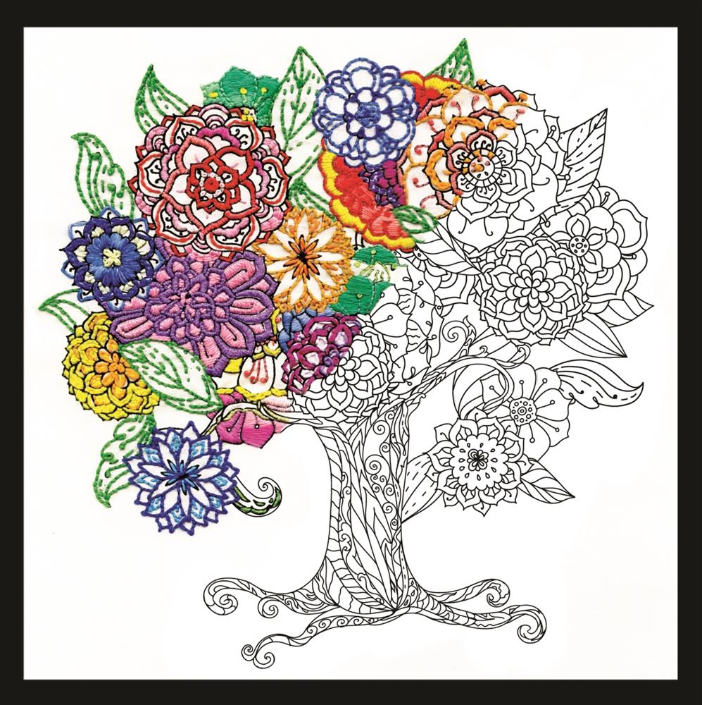Design Works Crafts Zenbroidery - Tree Embroidery Fabric