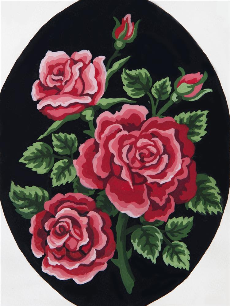 Red Rose Bouquet -  Tapestry Canvas