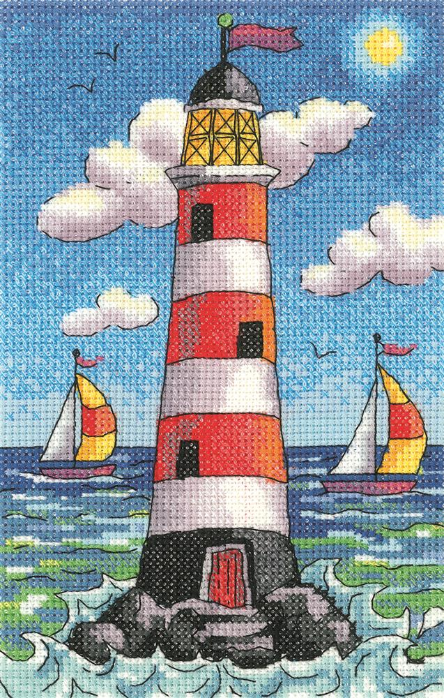 Lighthouse by Day - Aida -  Cross Stitch Kit
