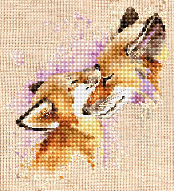 Luca-S Foxes Cross Stitch Kit