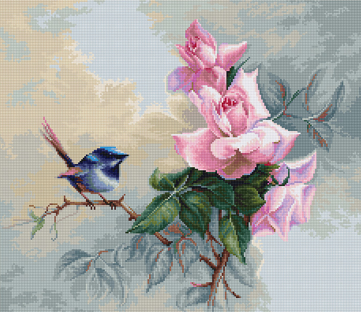 Luca-S Bluebird Cross Stitch Kit