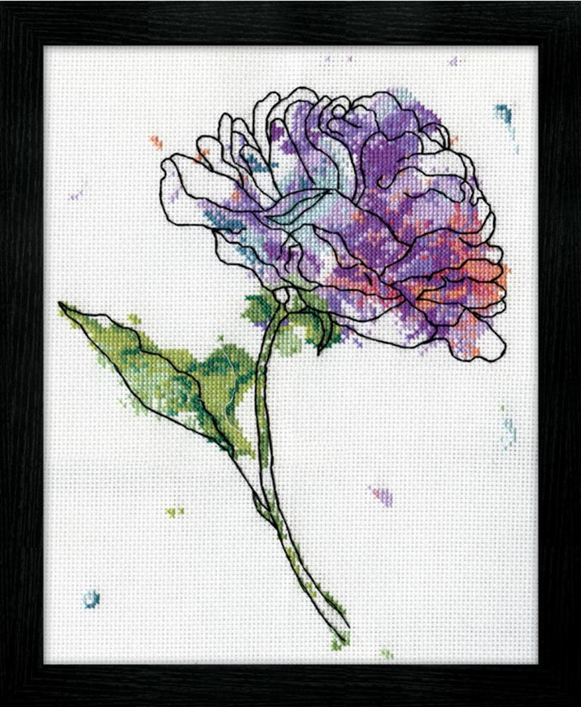 Design Works Crafts Lilac Floral Cross Stitch Kit