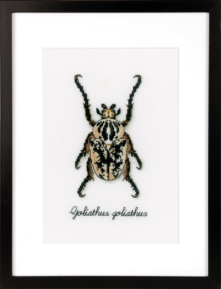 Vervaco Beige Beetle Cross Stitch Kit