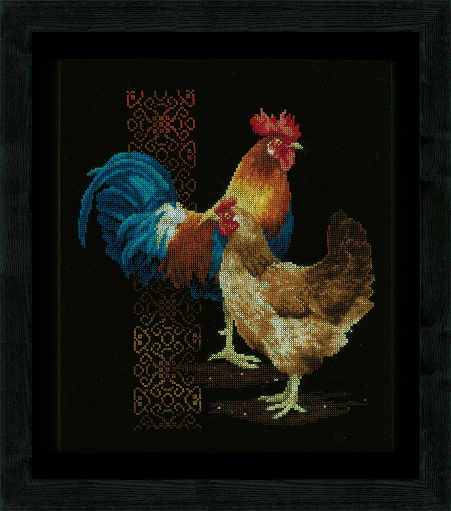 Vervaco Chicken and Rooster Cross Stitch Kit