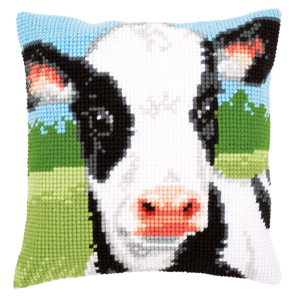 Vervaco Cow Cushion Cross Stitch Kit