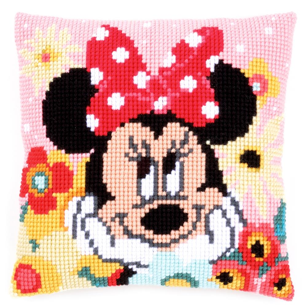 Vervaco Daydreaming Minnie Cushion Cross Stitch Kit