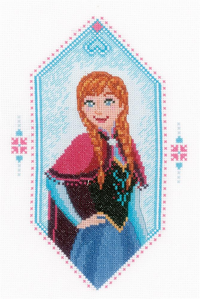Frozen - Anna -  Cross Stitch Kit