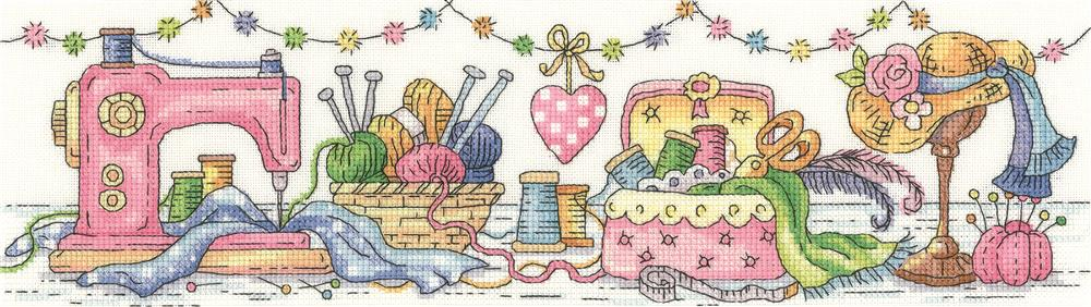 Heritage The Sewing Room - Evenweave Cross Stitch Kit