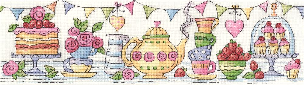 Heritage Afternoon Tea - Aida Cross Stitch Kit