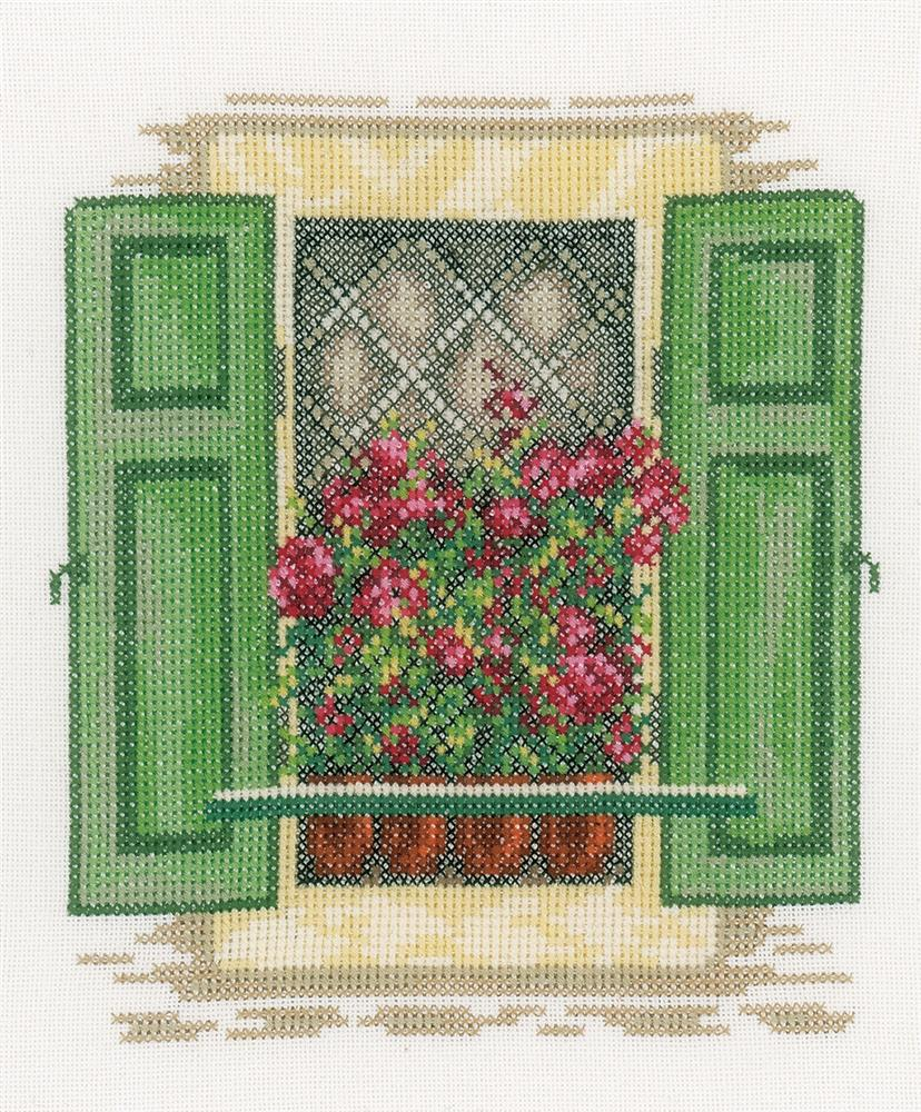 Window with Shutters -  Cross Stitch Kit