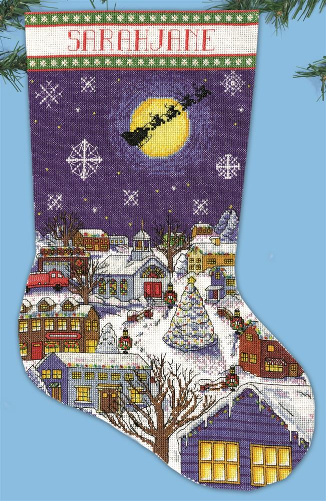 Design Works Crafts Christmas Eve Stocking Cross Stitch Kit