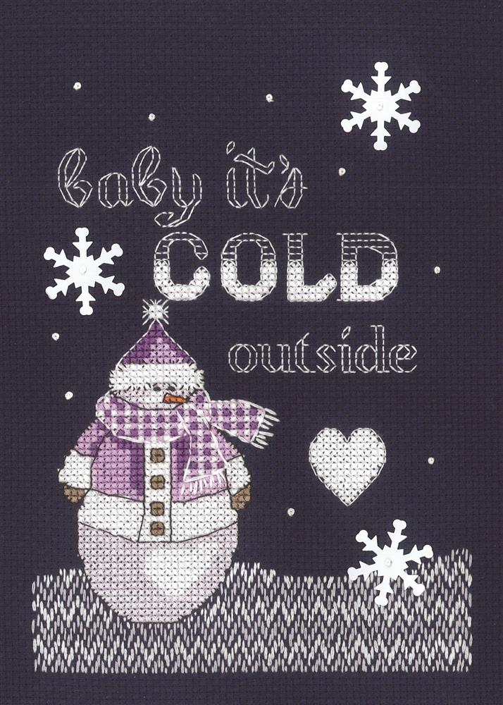 Cold Outside -  Christmas Cross Stitch Kit