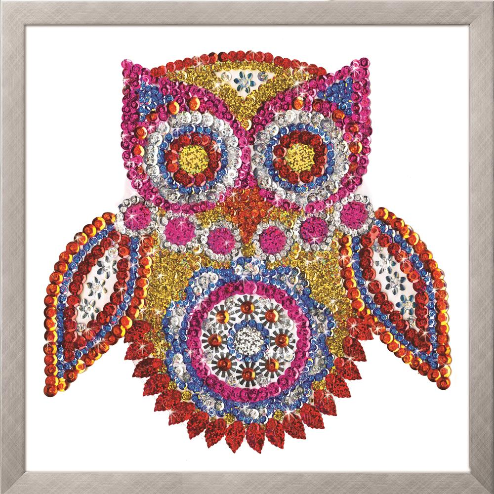 Design Works Crafts Zendazzle - Owl Embroidery Kit