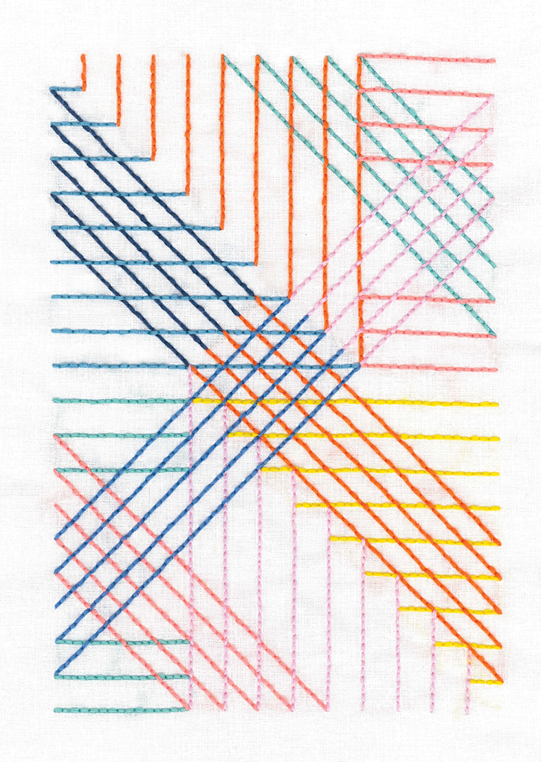 Parallel Lines -  Embroidery Kit